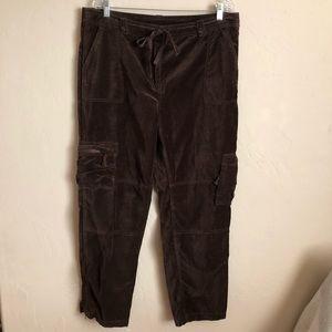Sundance Brown Nightfall Velvet Cargo Pants